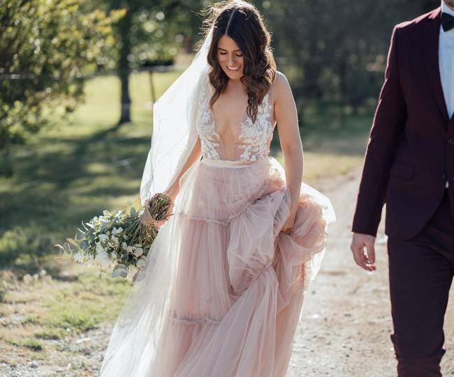 Unique Bridal Collection Elle (Dust pink)
