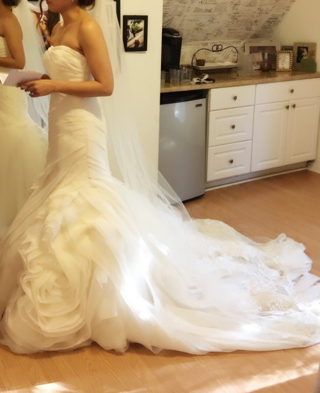 43171789120d Vera Wang White by Vera Wang VW351395 Preowned Wedding Dress on Sale ...