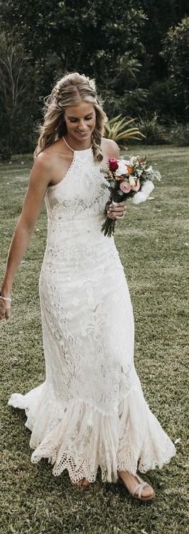 Spell Designs, Casablanca lace halter gown