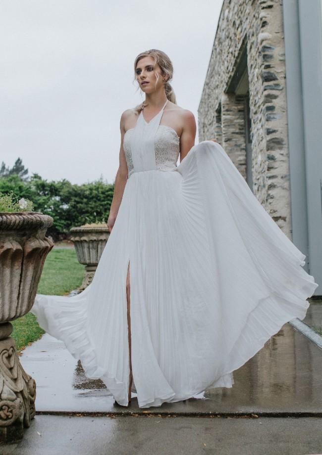 Ivory And Stone Bridal Garnet
