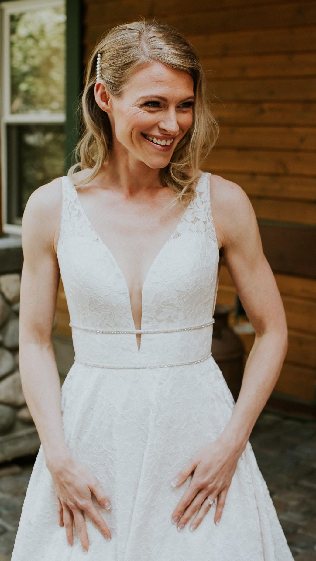 Skirt Slit Wedding Dress - Style #4800   Paloma Blanca