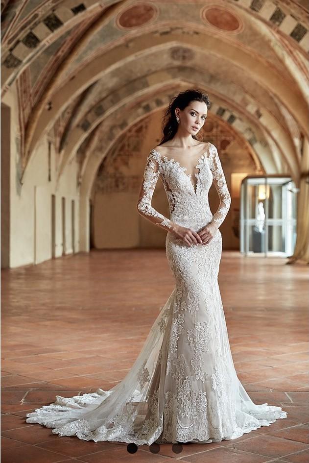 e4e14605e4ab3 Eddy K CT180 Used Wedding Dress on Sale 25% Off - Stillwhite