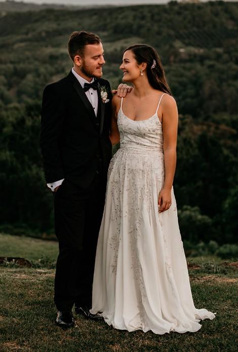 L'eto Bridal, Medium Piece 1 with custom alterations