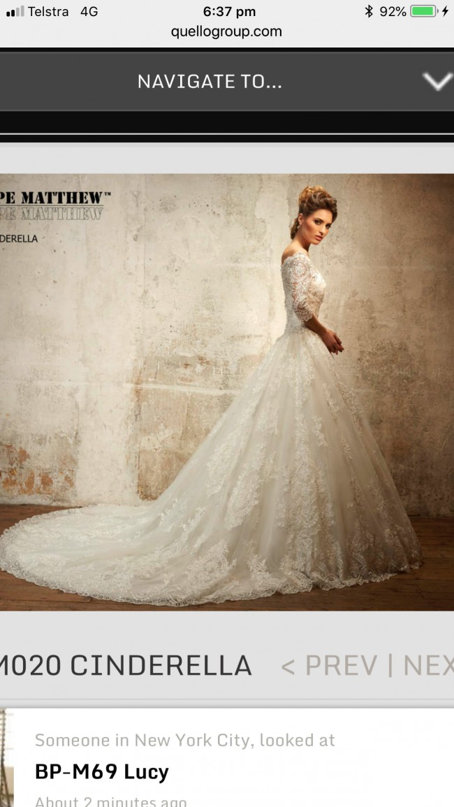 Fiore Couture Cinderella Sample Wedding Dress On Sale 80 Off