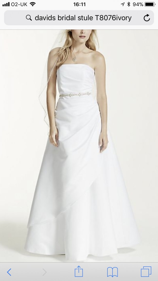 David's Bridal, T8076ivory