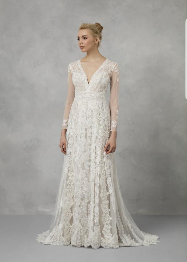 Melissa Sweet, Linear Lace Wedding Dress