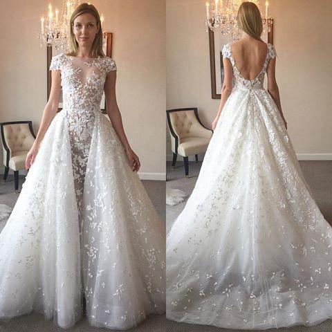 Zuhair Murad Wedding Dress.Zuhair Murad Vanna Size 8