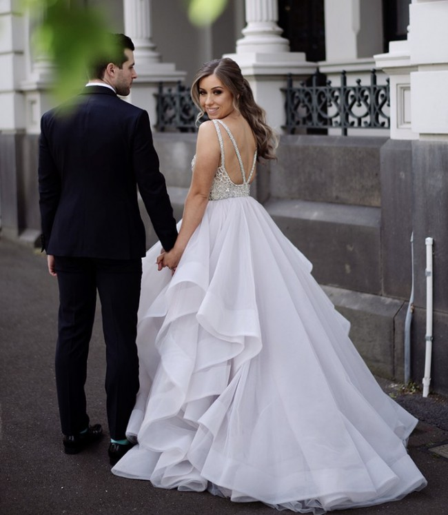 Hayley Paige dori gown - colour Alabaster