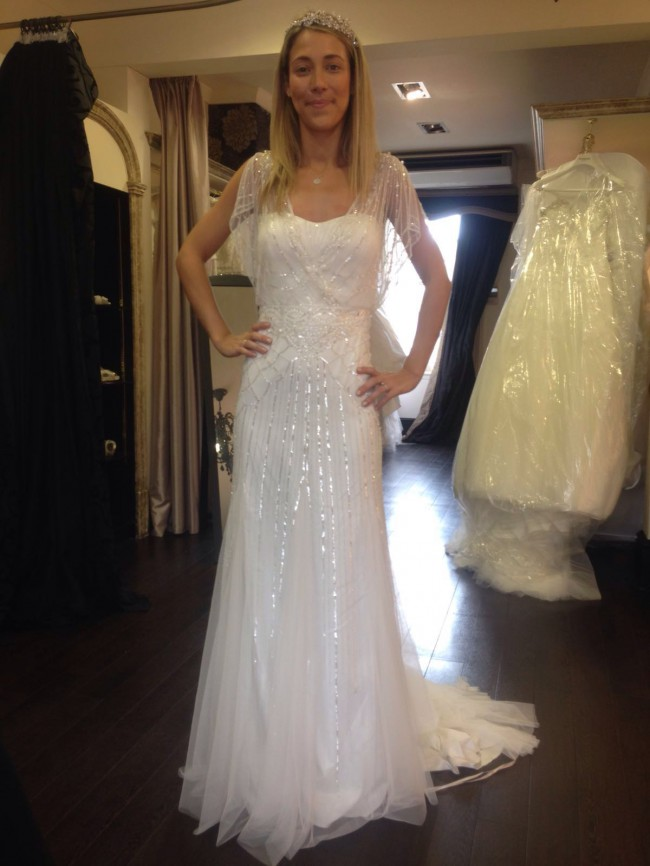 c0fbb449ab7 Eliza Jane Howell Sylvia New Wedding Dress on Sale 27% Off ...