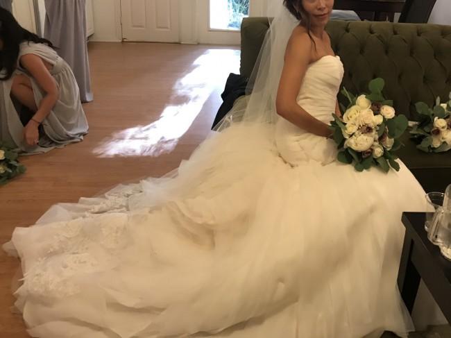 690affb70491 Vera Wang White by Vera Wang VW351395 Preowned Wedding Dress on Sale ...