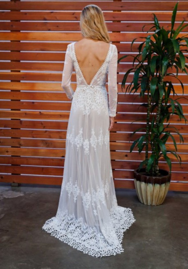 654c71a8394 Dreamers   Lovers Lisa Lace Backless Gown New Wedding Dress on Sale ...