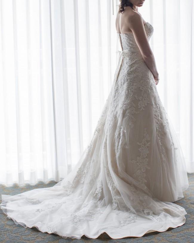 d420f18e831 David s Bridal V3587 Preowned Wedding Dress on Sale 50% Off ...