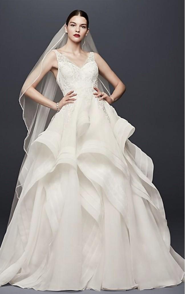 Truly Zac Posen Horsehair Tiger Skirt Wedding Dress Second