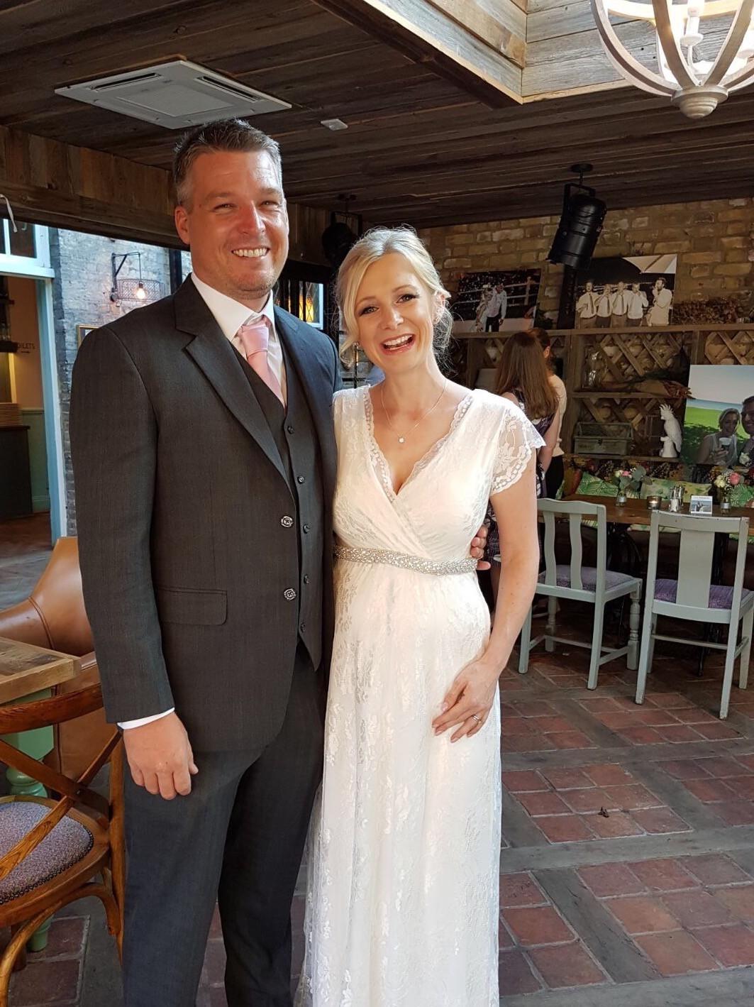 94ed043c4e9c5 Tiffany Rose Eden Gown Long Second Hand Wedding Dress on Sale 25% Off -  Stillwhite United Kingdom