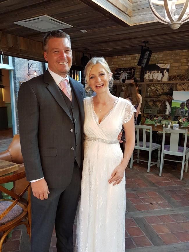 827741adb08 Tiffany Rose Eden Gown Long Second Hand Wedding Dress on Sale 25 ...