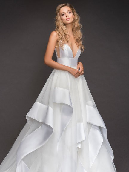 Hayley Paige Andi Gown and Mikado Veil