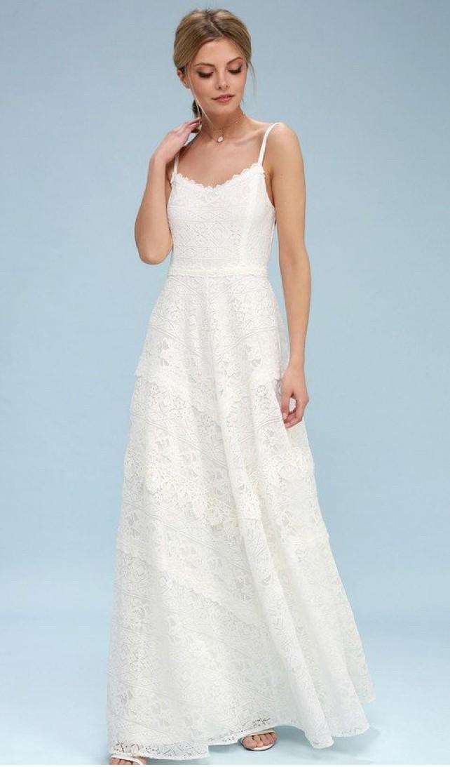 5221f2c6354 Lulus faithfully yours white lace backless maxi dress New Wedding ...