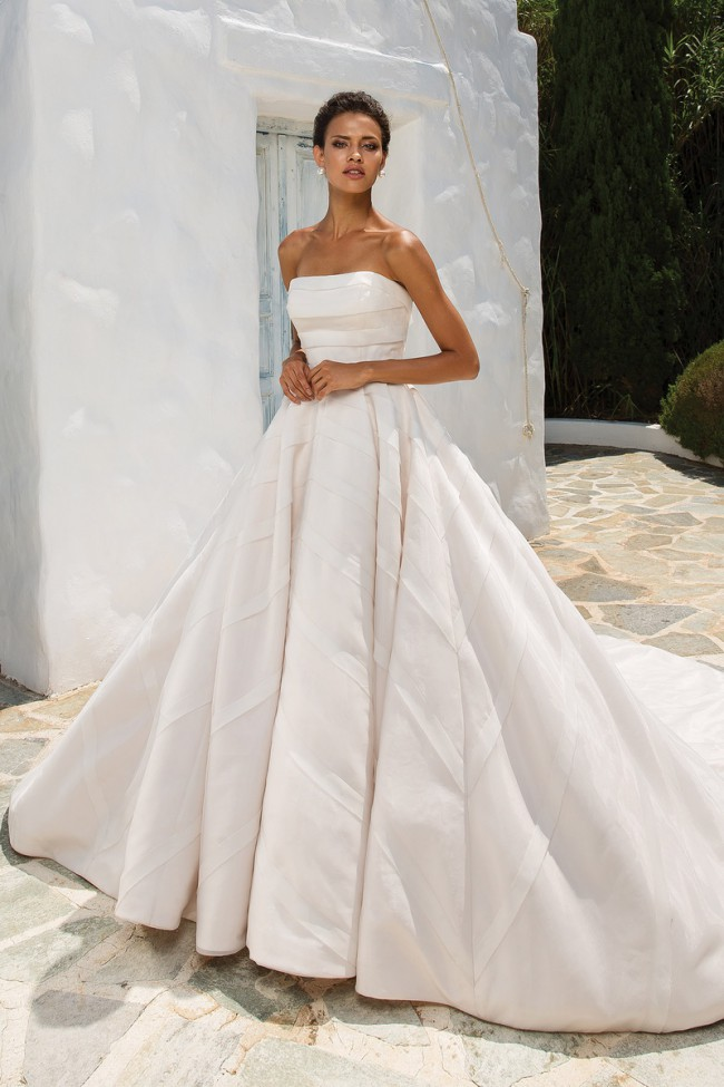 1e656af21ad2 Justin Alexander Geometric Organza Trim on Strapless Ball Gown 8880 ...