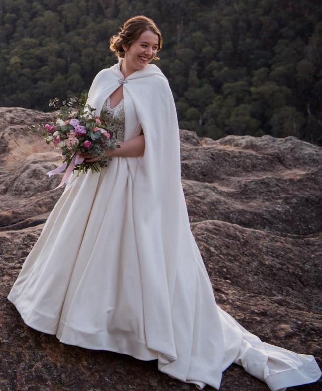 Allure Bridals Madison James MJ350 plus Custom Floor Length Coat