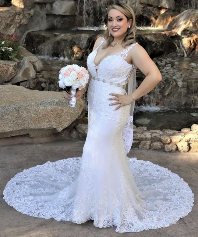 Brilliant Bridal Lace V-neck Dress style: 12100E (P.O.:091719)