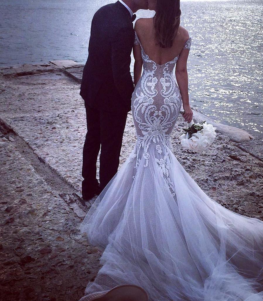 295197ee902 Steven Khalil Custom Made Second Hand Wedding Dress on Sale 83% Off ...