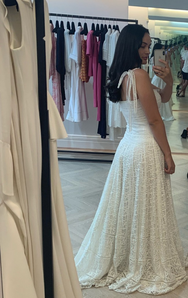 Rachel Gilbert Hattie maxi dress - ivory