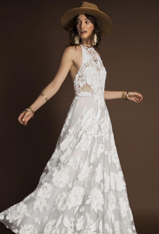 Rue De Seine Ami Gown in off-white