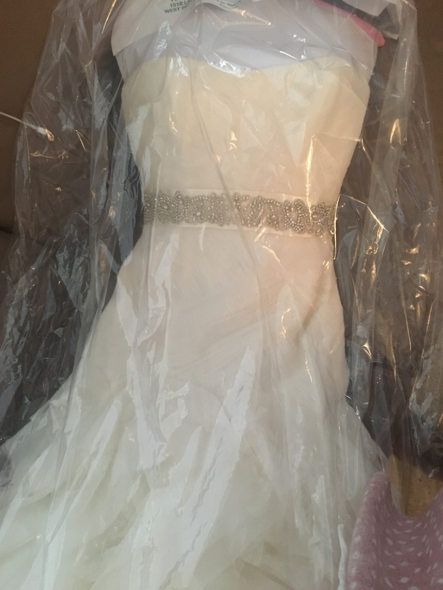 9e73cfbc7aa4 Vera Wang White by Vera Wang Organza and Satin Wedding Dress Second ...