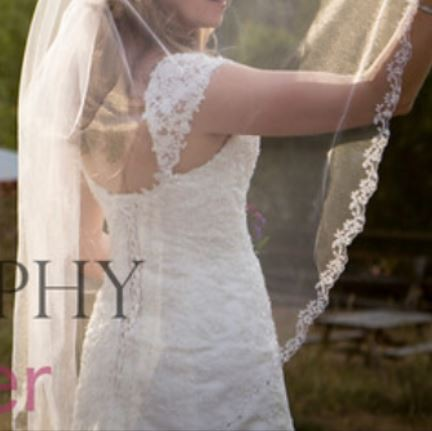 Maggie Sottero Emma-with elegant removable straps & matching veil
