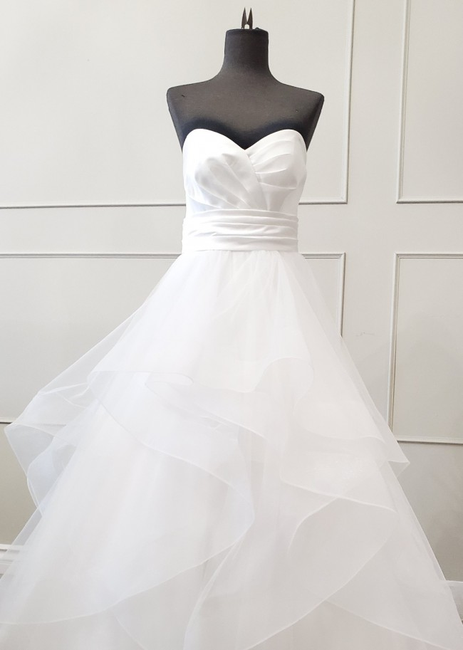 Custom Gown A-line sweetheart, tulle layered skirt