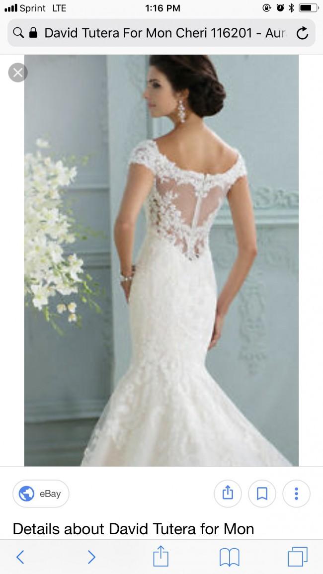 2a7f0b9cc985 David Tutera 116201W New Wedding Dress on Sale 43% Off - Stillwhite ...