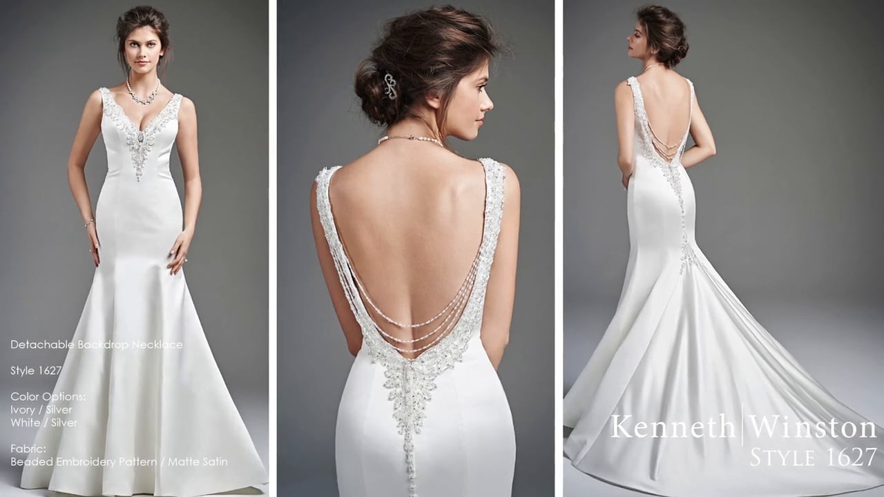 Cheap Wedding Gowns Toronto: Kenneth Winston Style # 1627 New Wedding Dress On Sale 65