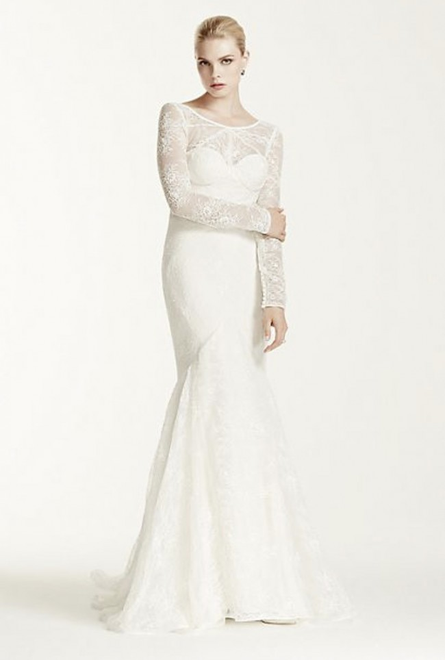 Truly Zac Posen Lace mermaid trumpet gown
