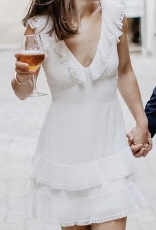Zimmermann Flutter Lace short dress