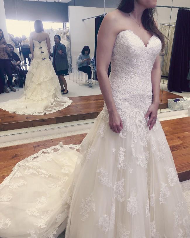 Allure Bridals Allure Gown 2AL2937-Alencon Lace IV/Gold