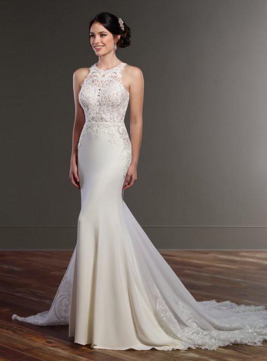 Martina Liana Never Worn - Illusion Racerback Wedding Dress