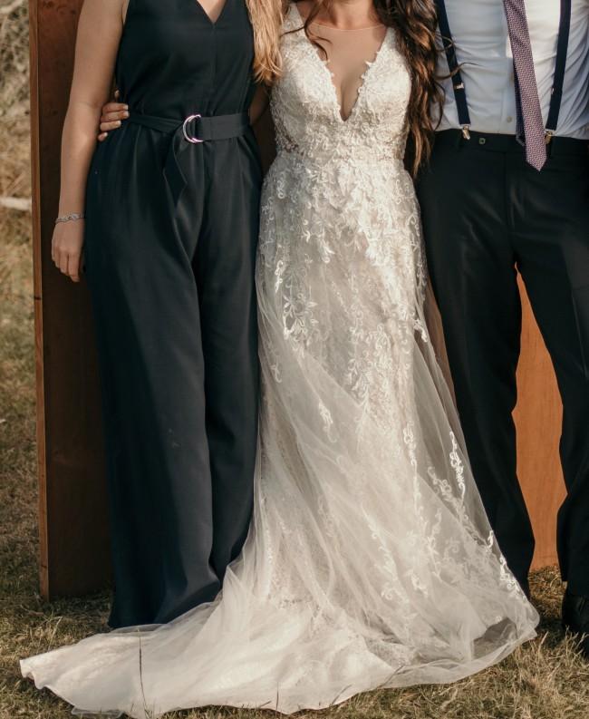 Galina Signature, Tulle A- Line wedding dress