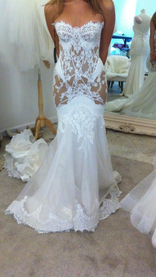 f72efa9d7bfc Leah Da Gloria Custom Second Hand Wedding Dress on Sale 37% Off ...