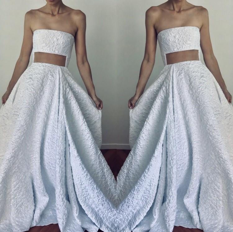 Alex Perry Wedding Gowns: Alex Perry Brans New Abigail Lurex Floral Strapless New