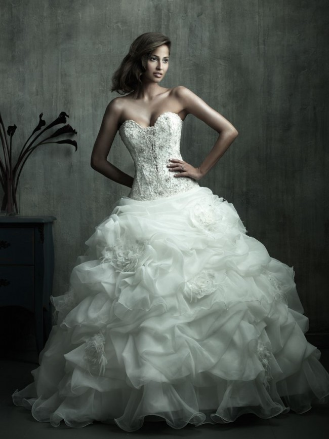 Allure Couture C170 Ivory Wedding Dress On Sale - 83% Off