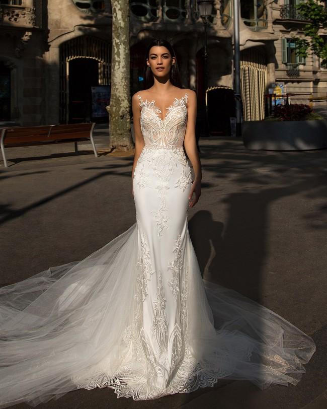 8a51ed5b35a Milla Nova Bler New Wedding Dress on Sale 37% Off - Stillwhite Canada