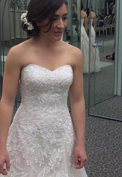 d1096303310 David s Bridal V3587 Used Wedding Dress on Sale 59% Off - Stillwhite Canada