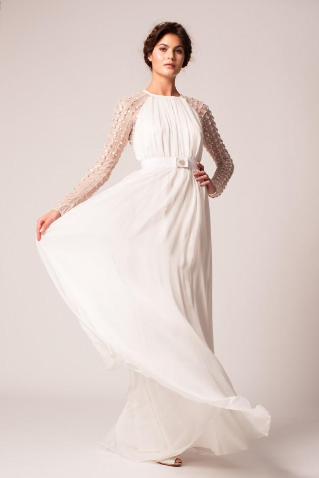 Temperley London Angeli long lattice dress