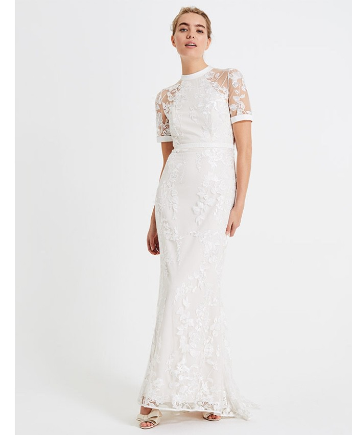 usa cheap sale outlet store outlet boutique Phase Eight Poppy embroidered bridal dress Wedding Dress On Sale - 22% Off