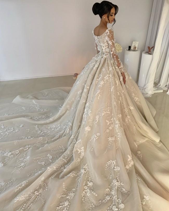 Fatima K, Custom Made Ball Gown