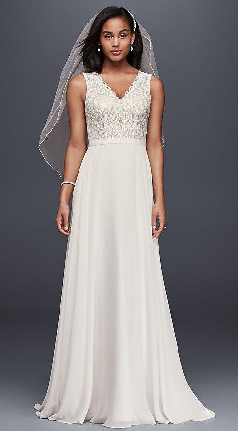 David's Bridal Scalloped Lace Mermaid (NTWG3835)