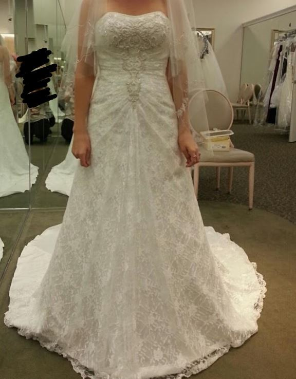 David's Bridal Collection WG9821IVORY