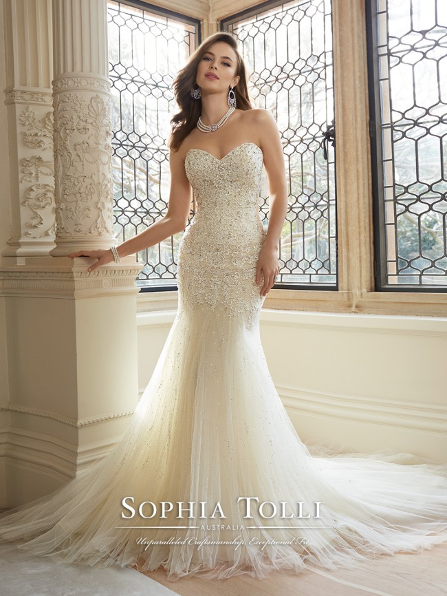 c06299daed51 Sophia Tolli Amira Y11625 New Wedding Dress on Sale 56% Off ...