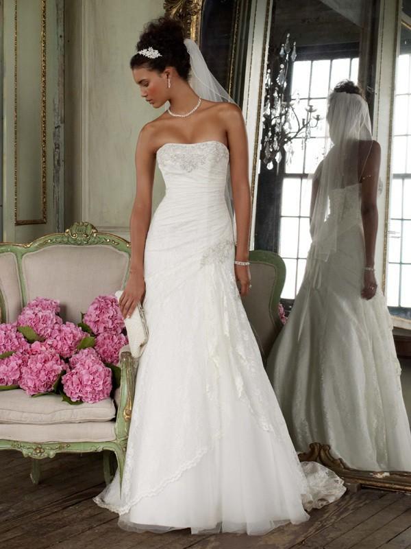 f3c0d9c92bb David s Bridal Yp3344 Used Wedding Dress on Sale 65% Off - Stillwhite Canada