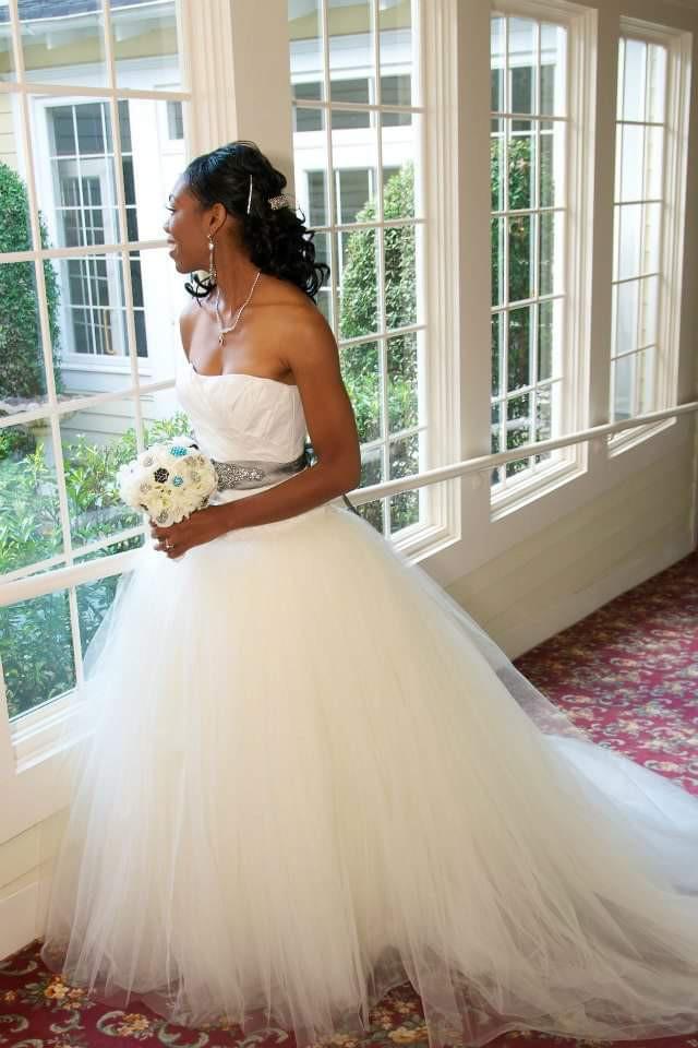 Vera Wang, Draped Taffeta Wedding Dress